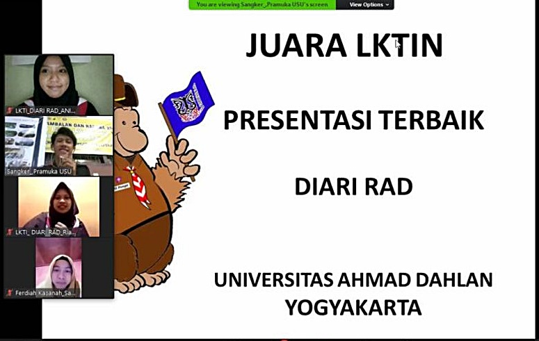 Tim Diari RAD Meraih The Best Presentation LKTIN Galipatra III 2020