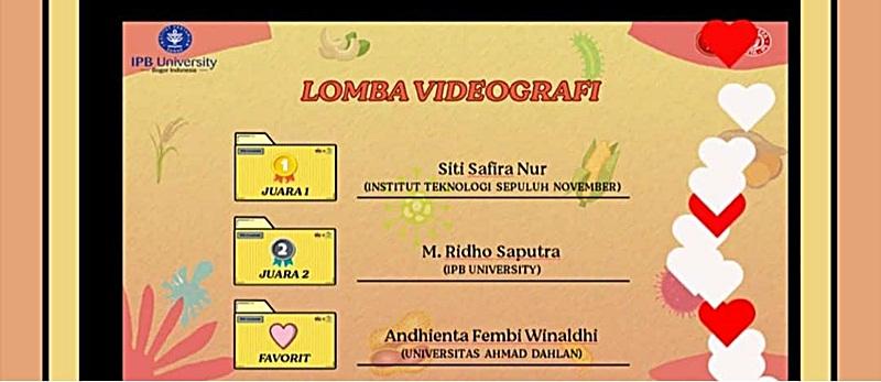 Mahasiswa Teknologi Pangan UAD Meraih Juara Favorit Lomba Videografi Dan Finalis Kompetisi Business Plan Dalam Rangka Hari Pangan Sedunia