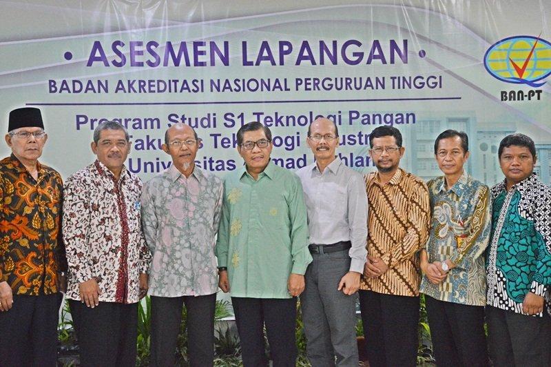 Visitasi Akreditasi Teknologi Pangan Universitas Ahmad Dahlan
